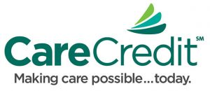 """Green Care Credit logo with """"Making care possible...today"""" underneath"""