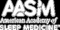 American Academy of Sleep Medicine logo in white