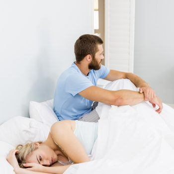 couple having intimacy issues because of sleep apnea