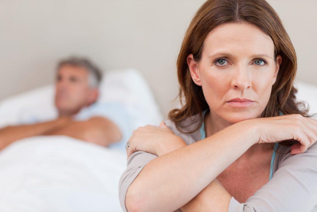 couple having relationship problems due to sleep apnea